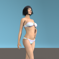 《Ainsley/LittleMelodyHair/Hard Sole Sandals for V4/BeachGirl》