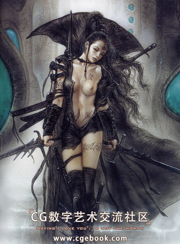 画集 / CG作品集 Luis.Royo(l路易斯.罗佑-绘画全... alia_and_view_of_the_valley_of_doom.jpg 8