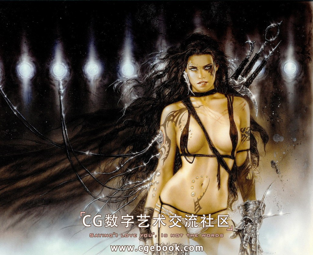 画集 / CG作品集 Luis.Royo(l路易斯.罗佑-绘画全... ofearna_tattoo_piercing-2.jpg 6