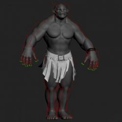 Fully_lit,_Rigged_&_Textured_Troll 含骨骼绑定和贴图